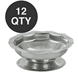 DOZEN STAINLESS STEEL 5 OZ SHERBERT DISH BOWL - WHOLESALE