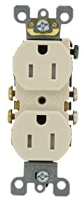 15 Amp, 125 Volt, Tamper Resistant, Duplex Receptacle, Residential Grade, Self Grounding, Light Almond, T5320-ST