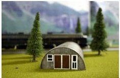 Toms Quonsut Hut (Rusty) Ho Scale Imex