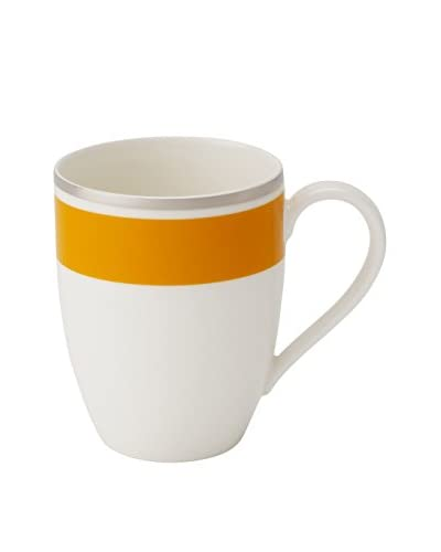 Villeroy & Boch Anmut My Colour 11.37-Oz. Mug, Orange/White