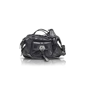 Francesco Biasia Avery - Front Pocket Leather Bauletto Bag Black