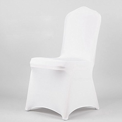 NUOLUX 1 pcs Spandex Folding CHAIR COVERS Wedding Supplies - White