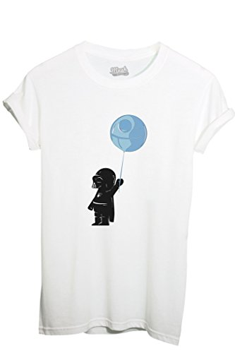 T-SHIRT BABY DARTH VADER - FUNNY by MUSH Dress Your Style - Uomo-L-BIANCA