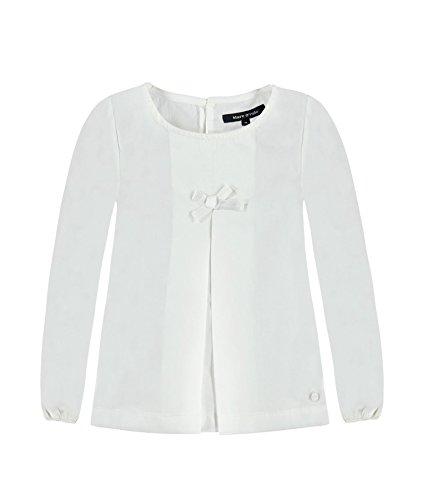 Marc O' Polo Kids Tunika 1/1 Arm, Camicia Bambina, Bianco (Bright White 1000), 128 cm