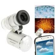 60X Zoom Digital Mobile Phone Microscope Magnifier with Plastic Case LED Light for Samsung Galaxy S IV / i9500