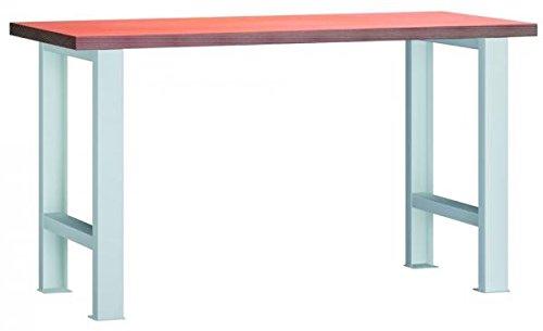 Metall-Meister-Werkbank-Arbeitstisch-1500x700x840-LxTxH-mit-Buchenmultiplexplatte-zerlegt-Modell-WS500N-1500M40-X1581