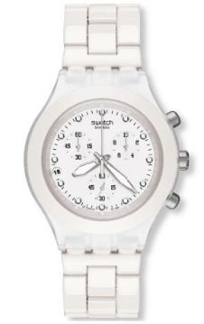 Swatch Men's SVCK4045AG Quartz Chronograph Date Plastic White Dial Watch