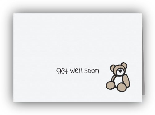 Teddy Bear Get Well Soon Cards
