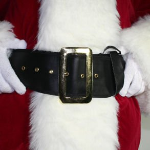"61"" Deluxe Multi-Purpose Black Halloween Pirate / Santa Belt Christmas Accessory"