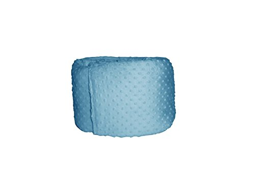 Baby Doll Heavenly Soft Crib Bumper, Blue