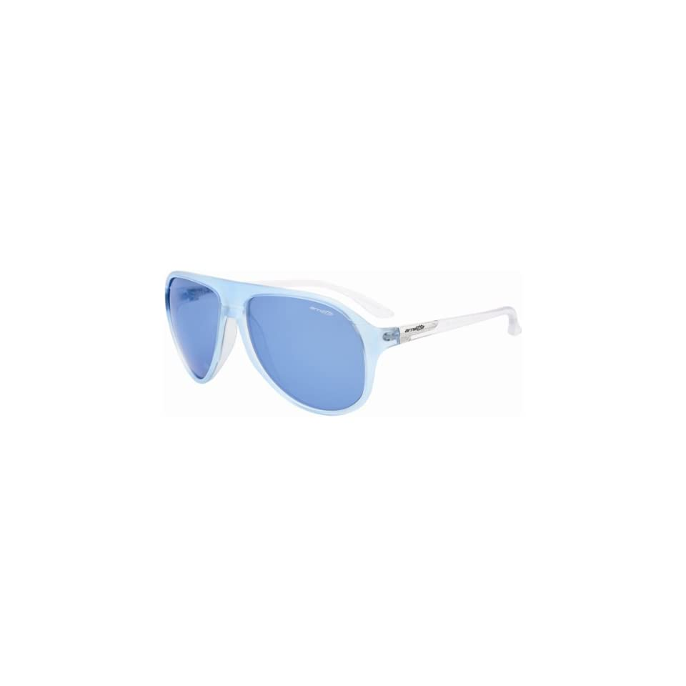 95988dad4e Arnette High Life Adult Designer Sunglasses Eyewear 2064 55 Ice blue  Transparent Temple