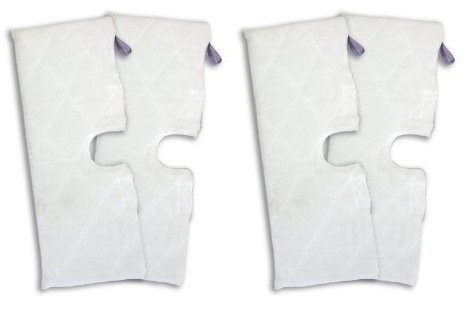 1 X Shark XLT3501 (EXTRA LARGE), Set of 4, Microfiber Cleaning Pads for the Steam Pocket Mop. (Large Steam Mop compare prices)
