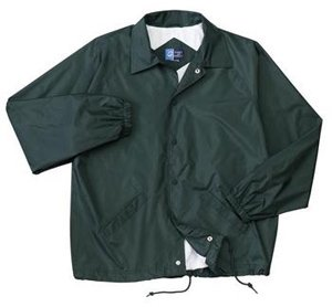 Vintage Lined Coach's Jacket, Large Hunter Green