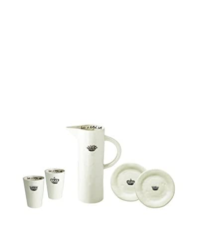 Rae Dunn by Magenta Crown Breakfast Set, White As You See