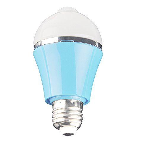 Sensky Bs123 5W Warm White(Light Color) Blue Housing E27 Led Motion Sensor Light, Florid Out Housing Motion Detector Lights