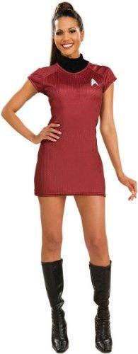 映画「スタートレック(2009年)」赤ドレス デラックス 大人用 コスチューム♪ハロウィン♪サイズ:X-Small