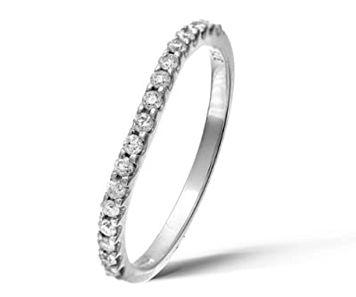 Ariel 9ct White Gold Third Carat Diamond Classic Half Eternity Ring