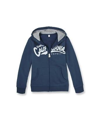 Esprit 024EE6J003 - Sweatshit  capuche sportswear - Garon -  Bleu (Bleu Jean) - 8 ans