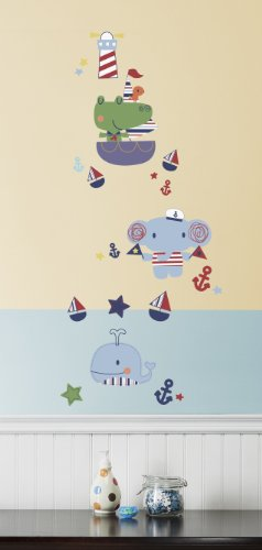 Kids Line Wall Decals, Sail Away