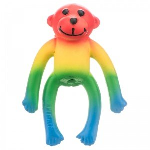 "Rainbow Monkey 4"" Latex By Lil Pals"