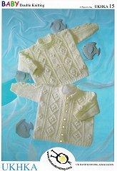 UKHKA %2F15 Cardigan cavo e felpa bambino, a maglia