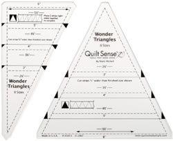 OLipfa Quilt Sense Wonder Triangles Ruler 8 Sizes 85013; 2 Items/Order