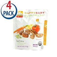 Happy Baby Organic Baby Food Stage 3 Beef Stew -- 4 oz Each / Pack of 4