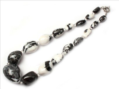 16--30mm graduated natural stone beads strand necklace 18