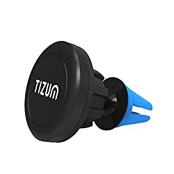 Magnetic - Car Mount Phone holder for Cell Phone & Tablet with Steel Ball Mount, 360 Degree Tilt & Rotate (Blue)