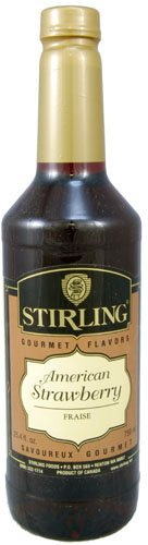 Stirling Gourmet American Strawberry Syrup (Gourmet,Stirling Gourmet Flavors,Gourmet Food,Beverages)