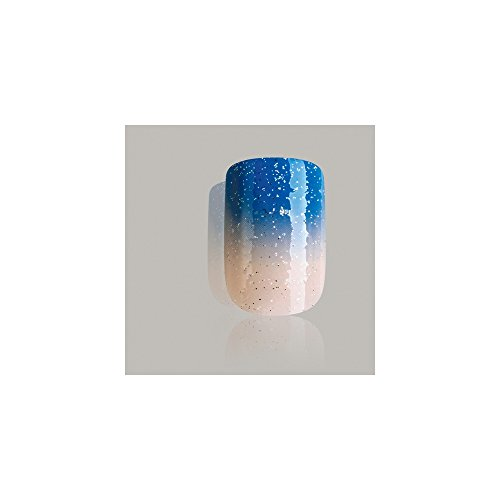 Bling Art False Nails French Manicure Blue Be My Baby 24 ...