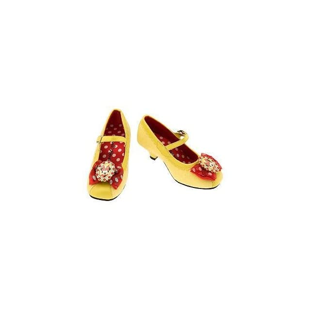 6f132a2e37a40 Disney Minnie Mouse Yellow Costume Dress up Pretend Play Shoes Slippers