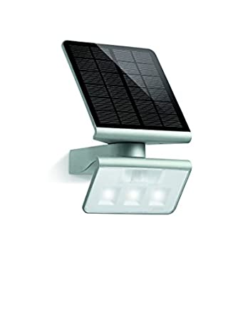 steinel xsolar l s led solar light silver with 1 2 watt. Black Bedroom Furniture Sets. Home Design Ideas