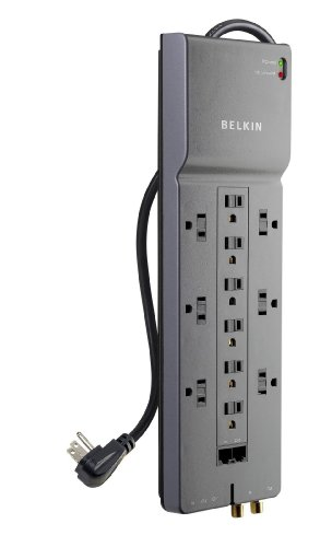 Belkin 12 Outlet Home/Office Surge Protector with Phone/Ethernet/Coaxial Protection and Extended Cord