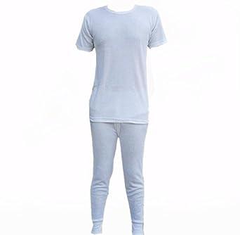 Mens 1 Pair Thermal Long Johns underwear ski - MEDIUM - WHITE