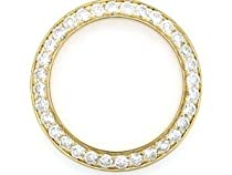 2ct Diamond Bezel Made for Ladies Rolex Watches 14ky