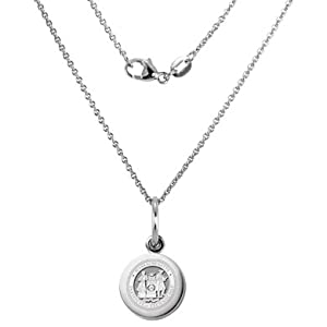 MIT Sterling Silver Necklace with Silver Charm