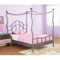 Powell Parisian Full Size Canopy Bed 407-107 (As shown) (71.75