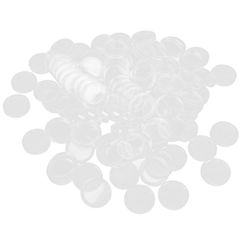 100pcs-25mm-Clear-Round-Case-Coin-Plastic-Capsules-Holder-Container-New