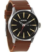 Nixon Men's A105019 Sentry Leather Watch