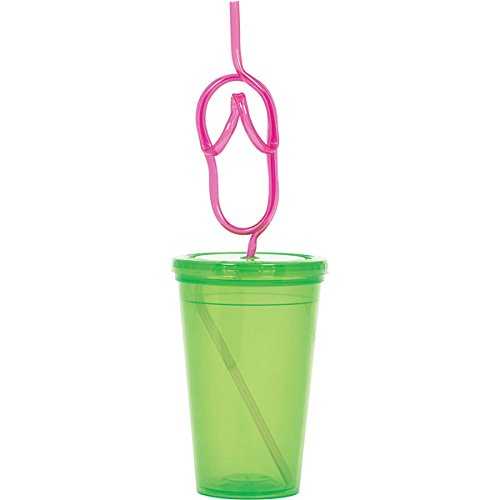 To Go Cup Flip Flop Straw