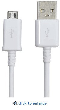 Original OEM 5 Foot White Samsung USB Sync Data Cable Charging Cable for Samsung Galaxy S II/2 Skyrocket HD, Galaxy S Aviator, Galaxy S Blaze 4G, Rugby Smart, Galaxy Nexus, Captivate Glide, Focus S, Samsung Galaxy S3, Samsung Galaxy S4