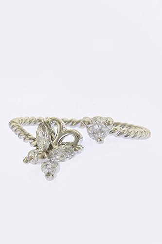 Trendy Fashion Jewelry Butterfly Ornate Tip Ring By Fashion Destination | (Silver)