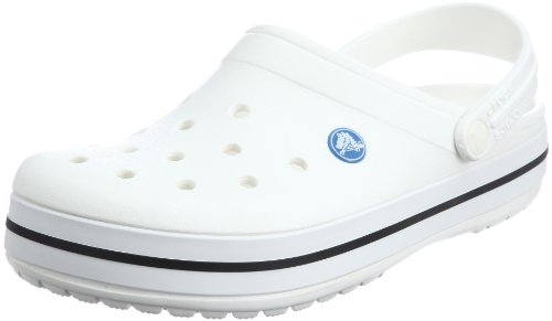 crocs Unisex Crocband Clog,White,Men's 6 M US/Women's 8 M US