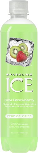 Sparkling ICE Spring Water, Kiwi Strawberry, 17-Ounce Bottles (Pack of 12)