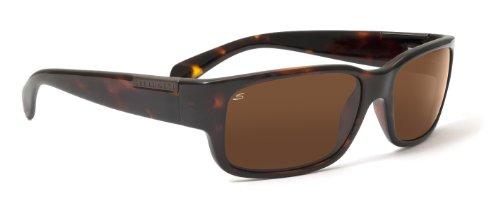 Serengeti Eyewear, Occhiali da sole Merano, Marrone (Shiny Dark Tortoise), M