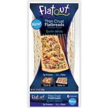 Flatout Rustic White Thin Crust Flatbread - 6 Per Pack -- 12 Packs Per Case.