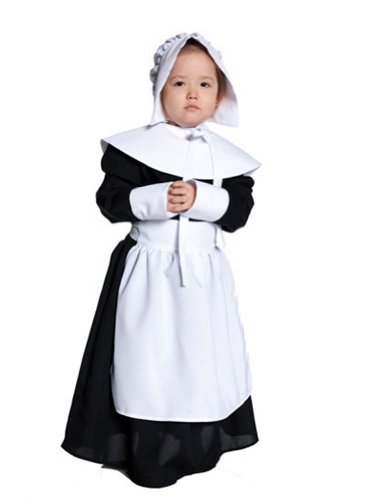 Girls - Pilgrim Girl Xlg Thanksgiving Pilgrim Costume - Child Extra Large