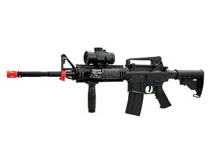 BBTac M4 M16 Replica Airsoft Gun M83 A2 Electric Rifle Full Automatic Semi w/ Red Dot Scope Tactical AEG