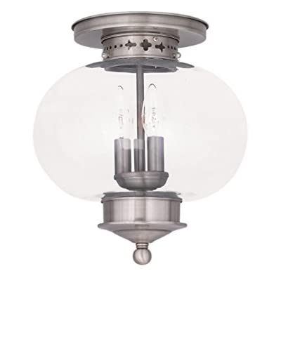 Crestwood Lucia 3-Light Ceiling Mount, Brushed Nickel